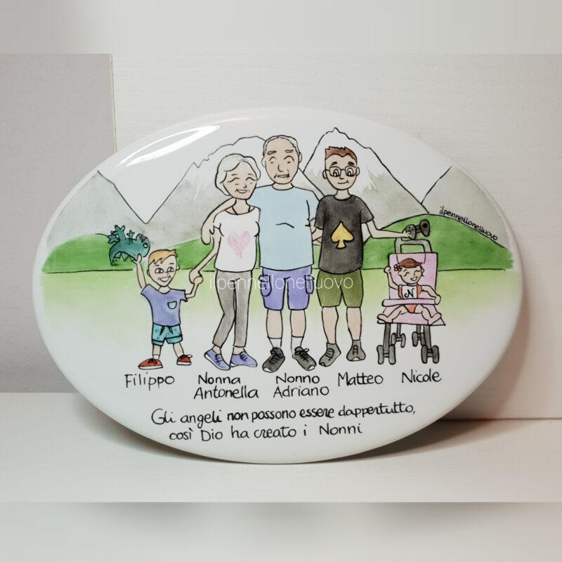 targa ovale famiglia