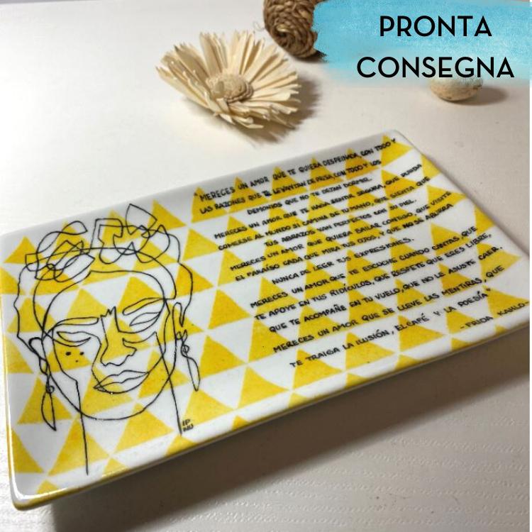 Svuotatasche rettangolare Frida Kahlo